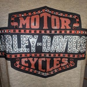 Harley Davidson graphic/ embellished top,NWTs 2X